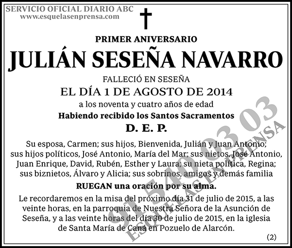 Julián Seseña Navarro